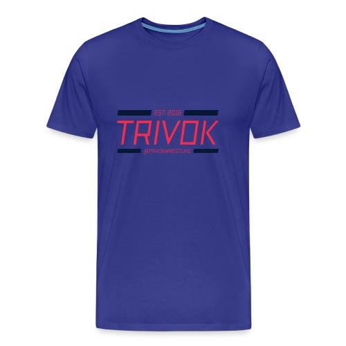 Trivok Rojo Azul - Camiseta premium hombre