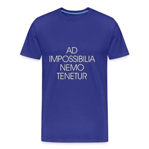 Ad Impossibilia Nemo Tenetur t-shirt avvocato - Men's Premium T-Shirt