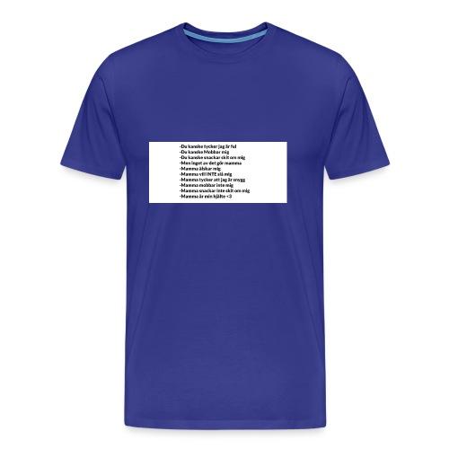 Mamma tröja som gör din mamma glad :) - Premium-T-shirt herr