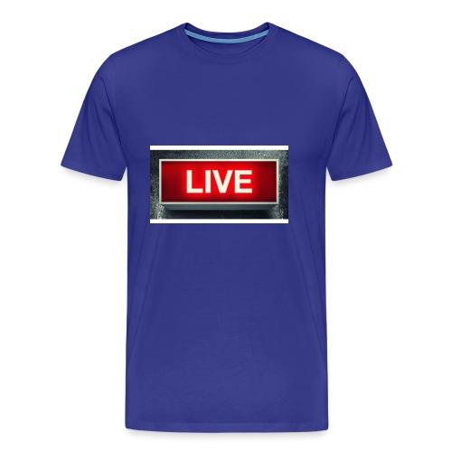 live bord youtube - Mannen Premium T-shirt