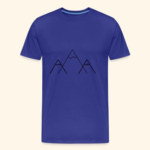 logo montagne - T-shirt Premium Homme