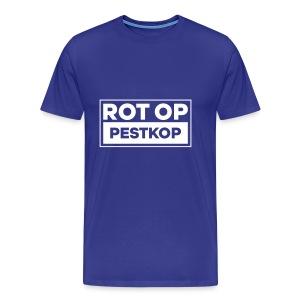Rot Op Pestkop - Block White - Mannen Premium T-shirt