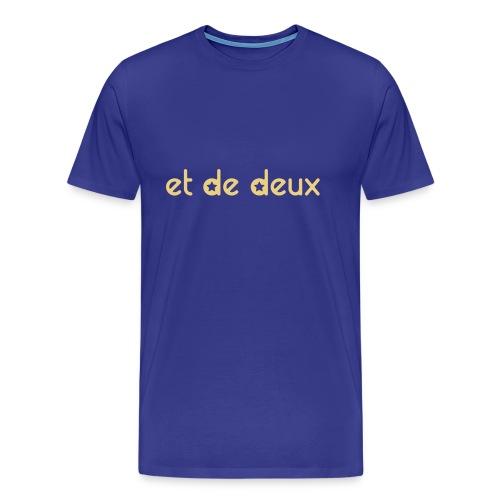 Et De Deux (étoiles) - Personnablisable - T-shirt Premium Homme