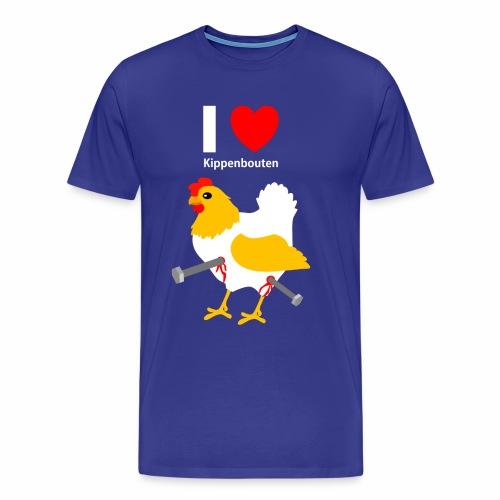 I love kippenbouten - Mannen Premium T-shirt