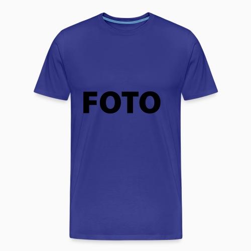 FOTO (Vitt tryck) - Premium-T-shirt herr