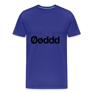 Øøddd (sort skrift) - Herre premium T-shirt