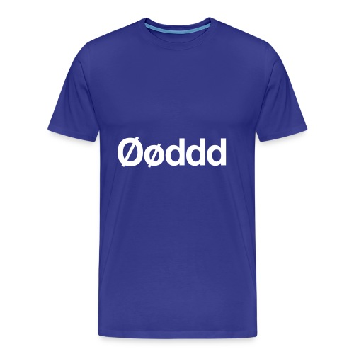 Øøddd (hvid skrift) - Herre premium T-shirt