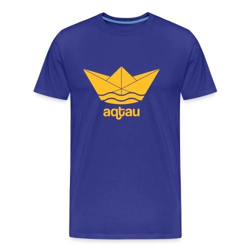 Aqtau Papierschiff Kasachtan Design - Männer Premium T-Shirt