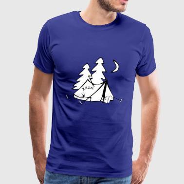 obóz camper scout namiot tipi kochen46 - Koszulka męska Premium