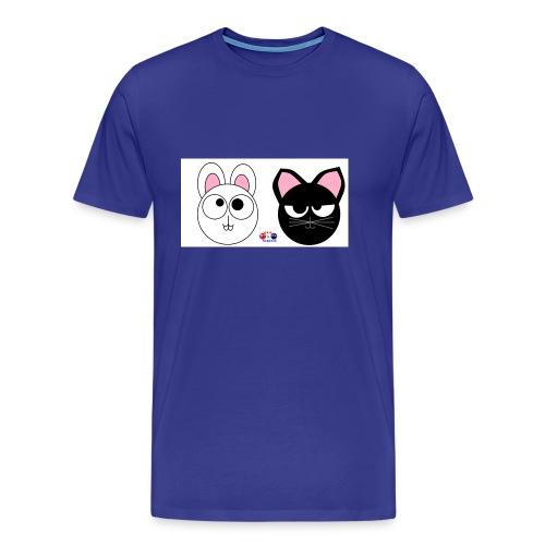 coniglio gatto - Maglietta Premium da uomo
