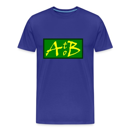 AtoB Logo green / yellow - Men's Premium T-Shirt
