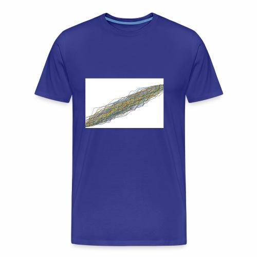 Line Chart - Mannen Premium T-shirt
