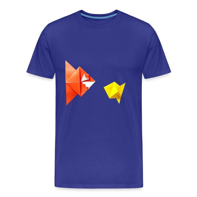 Origami Piranha and Fish - Poisson - Pesce - Peixe - T-shirt Premium Homme