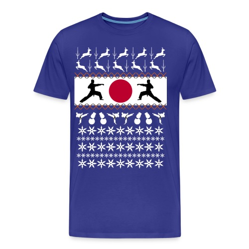 Karate Christmas Jumper - Men's Premium T-Shirt