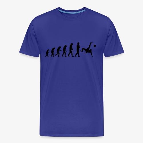 Evolution Fussball Schwarz Fußball - Männer Premium T-Shirt