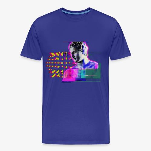 glitch man - Camiseta premium hombre