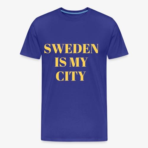 Sverige är min stad - Premium-T-shirt herr