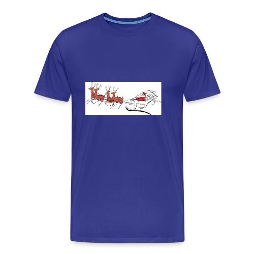 pictures-of-santa-and-reindeer-UDuZhz-clipart - Men's Premium T-Shirt