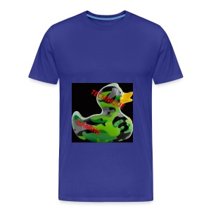 YOUTUBE NAME WITH A CAMO DUCK - Men's Premium T-Shirt