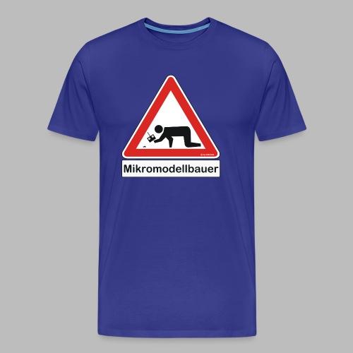 Warnschild Mikromodellbauer Auto - Männer Premium T-Shirt