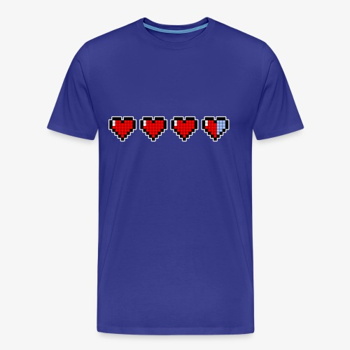 pixel hearts - Maglietta Premium da uomo