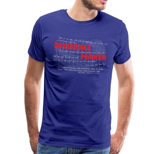Difference Maker hell - Männer Premium T-Shirt