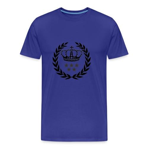 5 Star Lorbeerenkranz mit Krone - Männer Premium T-Shirt