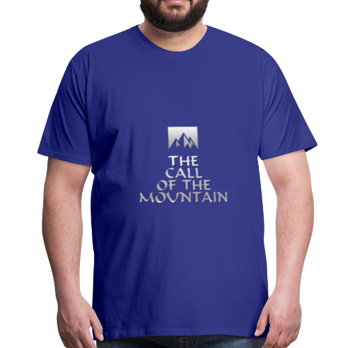 The Call Of The Mountain - silver - Men's Premium T-Shirt