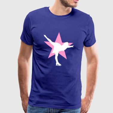 Taitoluistelu luistelua jään tanssi- - Miesten premium t-paita