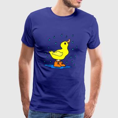 Ente im Regen - Herre premium T-shirt