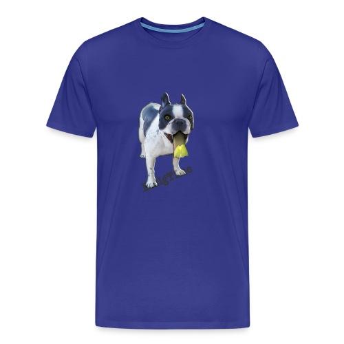 Bulldog francés. BullgTime. Dog yellow mellow - Camiseta premium hombre
