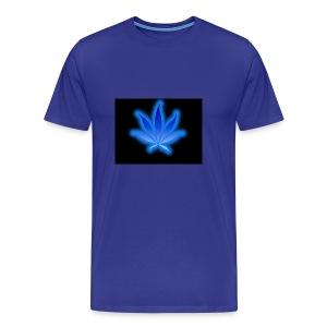marijuana leaf blue 1 - Koszulka męska Premium