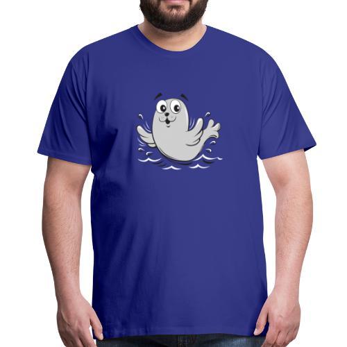 10-43 FUN BABY SEAL PRODUCTS - Miesten premium t-paita