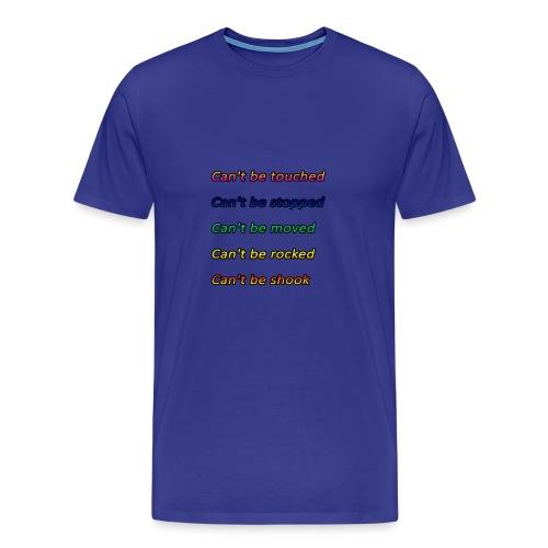 Cant be touched Roy Jones - Männer Premium T-Shirt