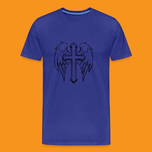 winged cross - Men's Premium T-Shirt
