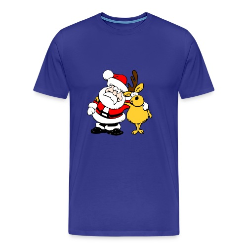 Santa and Reindeer - Men's Premium T-Shirt