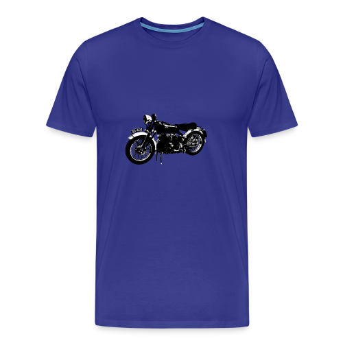 Classic motor bike Black Shadow - Men's Premium T-Shirt