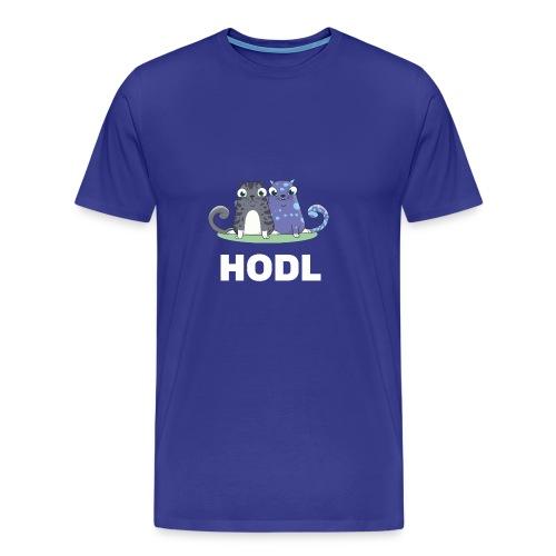 Kitty HODL white - Men's Premium T-Shirt