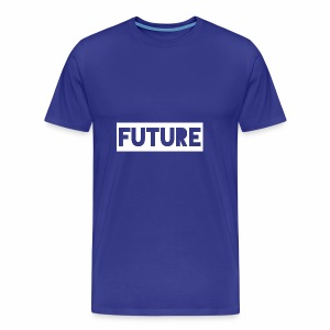 Future Clothing - Text Rectangle (White) - Men's Premium T-Shirt