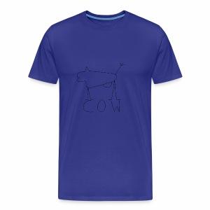 black cow - Premium T-skjorte for menn