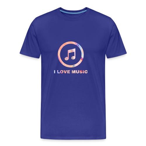 Schlichtes buntes Musik Desgin/Symbol mit Text - Männer Premium T-Shirt