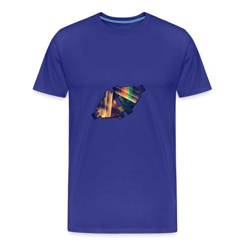 Disconnected Logo T-Shirt - Mannen Premium T-shirt