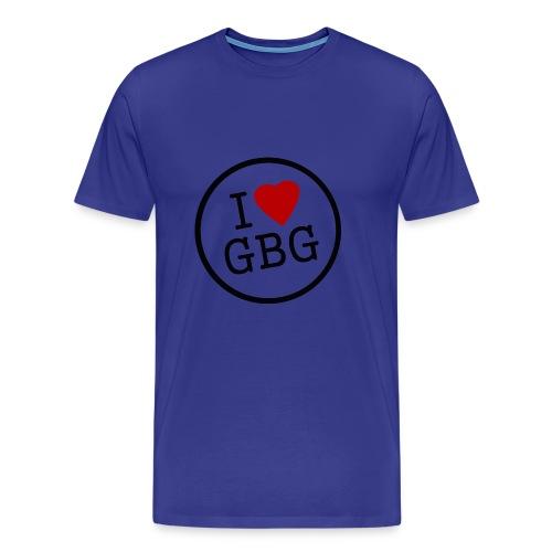 I Love Gbg - tygkasse - Premium-T-shirt herr