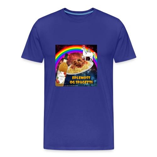 Eplemost og Spagetti - Premium T-skjorte for menn