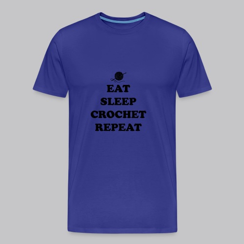 eat sleep crochet - Mannen Premium T-shirt