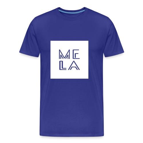 Mela Hvit Logo - Premium T-skjorte for menn