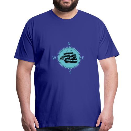 Schiff minze kompass nord süd - Männer Premium T-Shirt