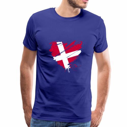 Dänemark Skandinavien Europa EU Flagge Herz hygge - Männer Premium T-Shirt