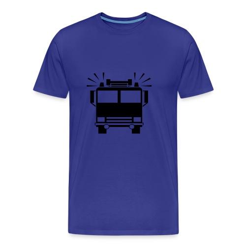 Feuerwehrautosymbol - Männer Premium T-Shirt