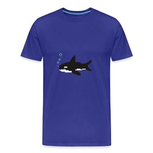 Pixel Orca - Männer Premium T-Shirt